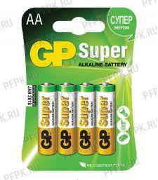 Батарейки GP Super LR6 (АА) алкалин (блистер 4 шт) (149-983) [40/320]