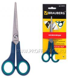 Ножницы BRAUBERG Soft Grip 165мм (230-761) [12/144]