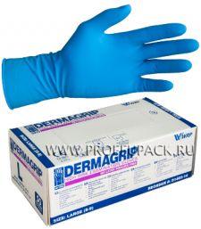 Перчатки латексные DERMAGRIP HIGH RISK (Хай риск) L (размер 8-9) [25/250]
