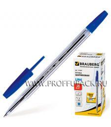 Ручка шариковая BRAUBERG Line (Лайн) 1мм Синяя (141-097) [50/1000]