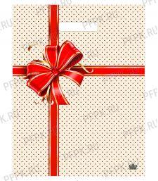 МАЛАХИТ, вырубная ручка, 31х40+3 (60мкм) ГЛЯНЕЦ, ТИКО Подарочная сумочка [50/500]