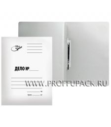 Папка-скоросшиватель ДЕЛО А4, мел. картон 300гр/м2 (158-527) [1/200]