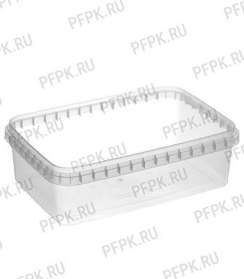 Банка ПП 1000мл, прямоугольная, 191 (без крышки) Прозрачная [1/306]