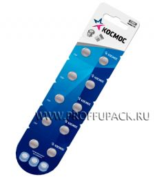 Батарейки КОСМОС AG7 (LR-57) алкалин (блистер 10 шт) [100/2000]