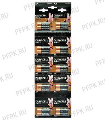 Батарейки DURACELL LR6 (АА) алкалин (блистер-отрыв 2 шт) [20/200]