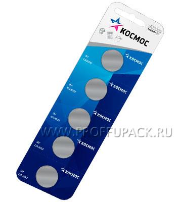 Батарейки КОСМОС CR2032 (блистер 5 шт) [5/1200]