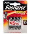Батарейки ENERGIZER Max LR3 (ААА) алкалин  (блистер 4 шт) [4/48]