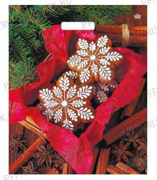 НГ ГЛЯНЕЦ проруб. 38х45+3 (60 мкм) ПВД, ТИКО Рождественские пряники [500/500]