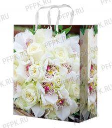 Сумочка бумажная 18х22х10 МЕГА (MP) MP-2079 (Белые розы) [10/200]