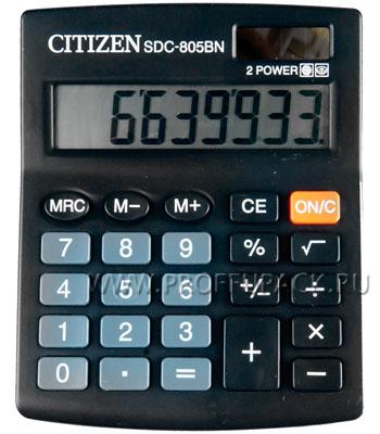 Калькулятор CITIZEN SDC-805BN (065-150/250-337) [1/20]