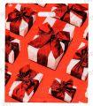 БРОНЗ, вырубная ручка, 38х45+3 (60мкм) ГЛЯНЕЦ, ТИКО Подарки с красными бантами [..