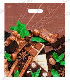 БРОНЗ, вырубная ручка, 38х45+3 (60мкм) ГЛЯНЕЦ, ТИКО Шоколадное настроение [50/500]