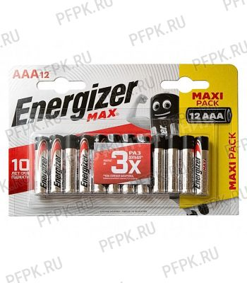 Батарейки ENERGIZER Max LR3 (ААА) алкалин  (блистер 12 шт) [12/144]