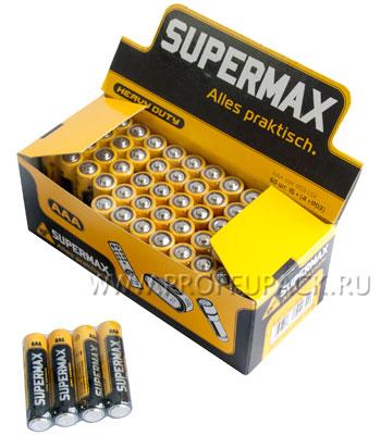 Батарейки SUPERMAX R3 (AАA) солевые (спайка 2 шт) [60/600]