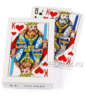 Карты игральные КОРОЛЬ, покерные [10/100]