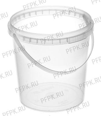 Ведро 1л прозрачное, д-р 122 мм (без крышки) [1/400]