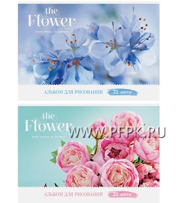 Альбом для рисования А4 (32 листа) Цветы (227-621/ А32ГЛ_9087 ) [5/40]
