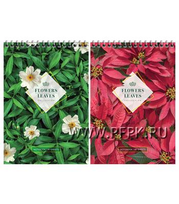 Блокнот А5 (80 листов) на гребне Цветы (270-606/Б5к80гр_22523) [20/20]