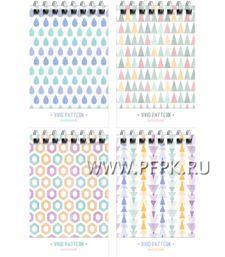 Блокнот А7 (40 листов) на гребне Светлый узор (276-076/ Б7к40гр_24230 [10/140]