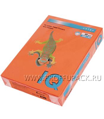 Бумага офисная цветная IQ А4, 500л. (интенсив) Оранжевая (084-421/110-662 / OR43) [1/5]