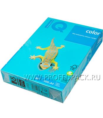Бумага офисная цветная IQ А4, 500л. (интенсив) Светло-синий (093-510 / 110-663 / AB48) [1/5]