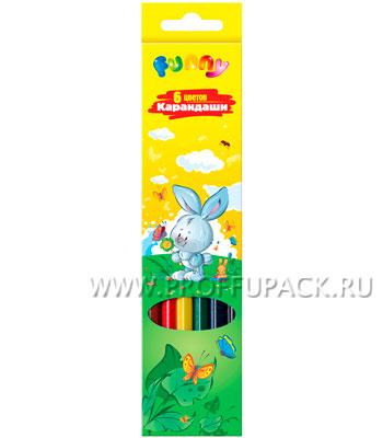 Карандаши цветные (6 цветов) Зверята (171-428 / CP06_116) [24/480]