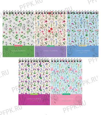 Блокнот А6 (60 листов) на гребне Цветы (279-972/Б6к60гр_25987) [4/80]