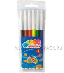 Фломастеры (набор 6 цветов) Космонавты (171-419 / WCP06_918) [24/480]