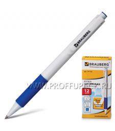 Ручка шариковая автоматическая BRAUBERG Blank (Бланк) синяя (141-153) [12/1728]