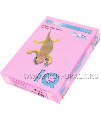 Бумага офисная цветная IQ А4, 500л. (неон) Розовый неон (083-748 / 110-670/ NEOPI) [1/5]