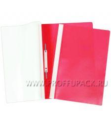 Папка-скоросшиватель А4, плотная (до 100 листов) Красная (162-563 / Fms16-4_717) [10/500]