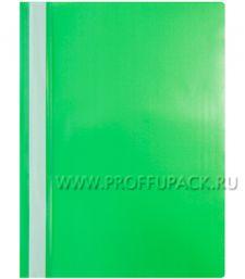 Папка-скоросшиватель А4, стандарт (до 100 листов) Зелёная (240-674 / Fms16-3_11691) [20/600]