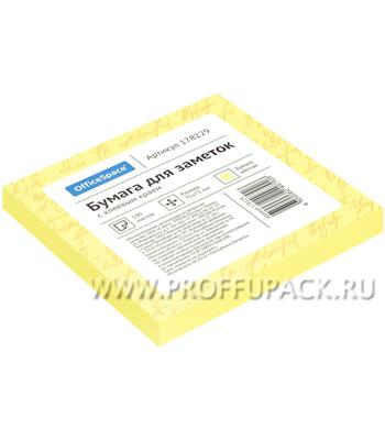 Блок самоклеящийся 75х75 (100 листов) Жёлтый (178-229 / St75-75zh_1792) [1/186]