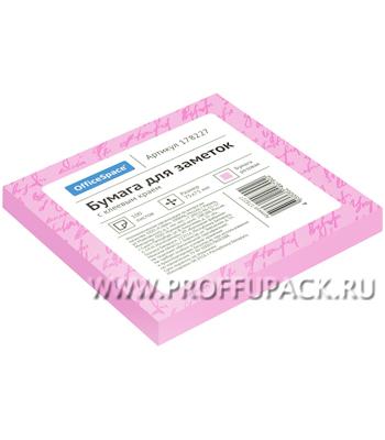 Блок самоклеящийся 75х75 (100 листов) Розовый (178-227 / St75-75r_1790) [1/186]