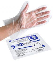 Перчатки полиэтиленовые ХАНС (уп. 100 шт.) L [1/100]