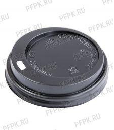 Крышка к стакану 250мл черная, д-р 80мм [100/1000]
