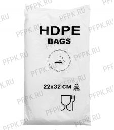14+8х32 [22x32] евро HDPE BAGS, БЕЛАЯ (упак.) [1/10]