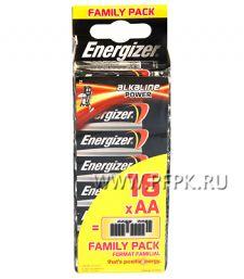Батарейки ENERGIZER LR6 (АА) алкалин (блистер 16 шт) [16/192]