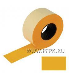 Этикет-лента 26х16 цветная, прямоугольная (800шт) (уп.5 рул) оранжевая (128-459) [4/20]