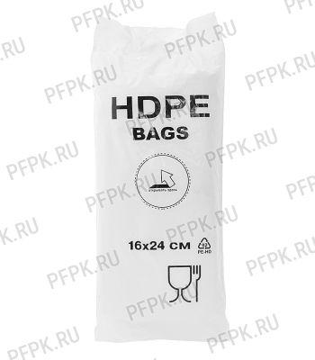 10+6х24 [16x24] евро HDPE BAGS, БЕЛАЯ (упак.) [1/20]