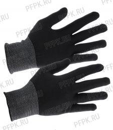 Перчатки нейлоновые Люкс Черные [12/1200]