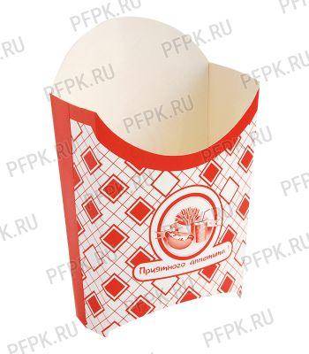 Коробка для картофеля фри 120 гр. Картония [1/500]