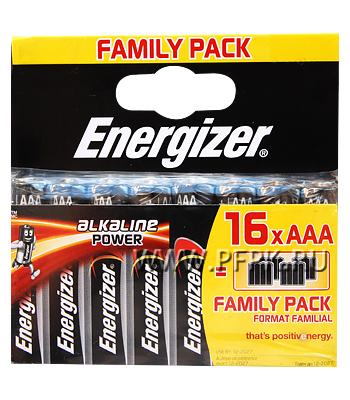 Батарейки ENERGIZER LR3 (ААА) алкалин (блистер 16 шт) [16/192]