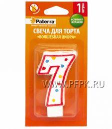 Свеча ЦИФРА PATERRA № 7 (401-510) [12/48]