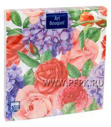 Салфетки бум. DESNA BOUQUET 33х33, 3-сл.,с рис. (20 листов) Прекрасные цветы [12/12]