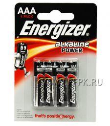 Батарейки ENERGIZER LR3 (ААА) алкалин  (блистер 4 шт) [4/48]