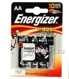 Батарейки ENERGIZER Plus LR6 (АА) алкалин (блистер 4 шт) [4/96]