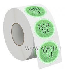Самоклеящиеся этикетка д-р 4 см GREEN TEA [250000/250000]