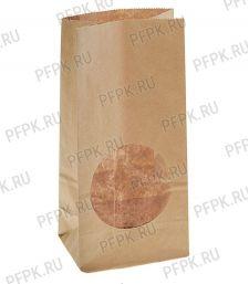 Пакет бум. 2сл, окно круг, 120(90)х80х250(35Н),крафт [500/500]