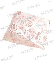 Уголок для гамбургеров 175х150, с рисунком Фаст-фуд [100/3500]